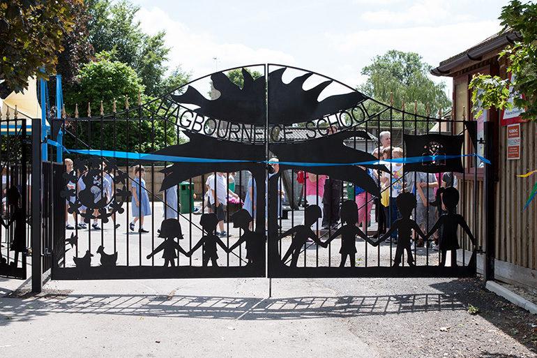 Image of school gates