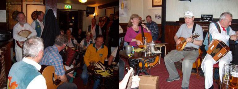Image of musicians on folk night