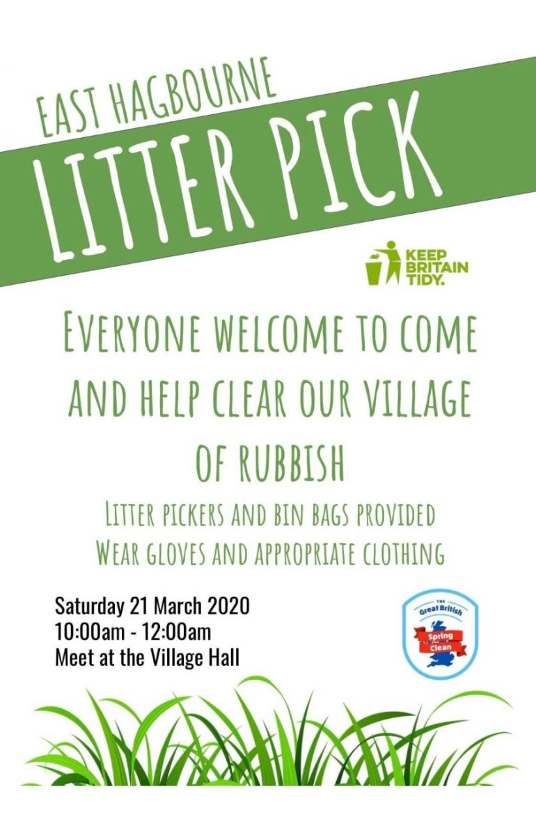 Poster advertising Litter Pick