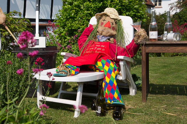 Image of a scarecrow lying down