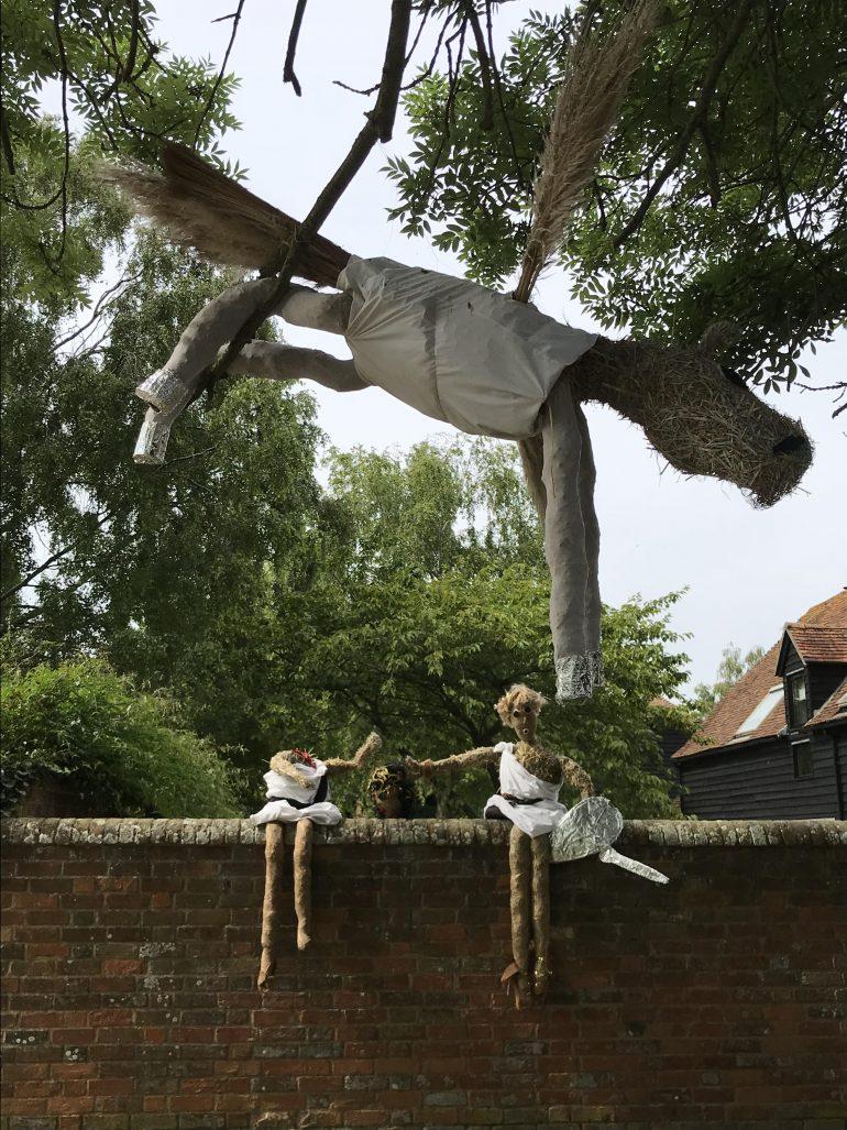 Image of Pegasus scarecrow