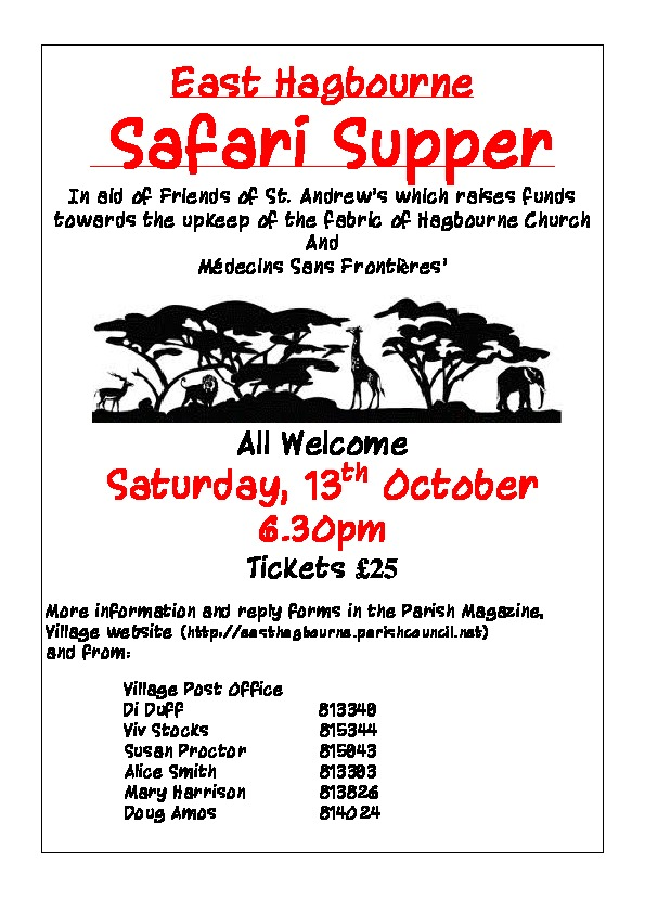 Image of Safari Supper poster