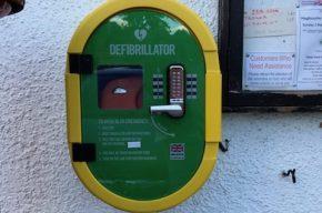 Image of the village defibrillator