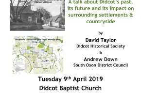 Poster of Talk being offered on Didcot Town
