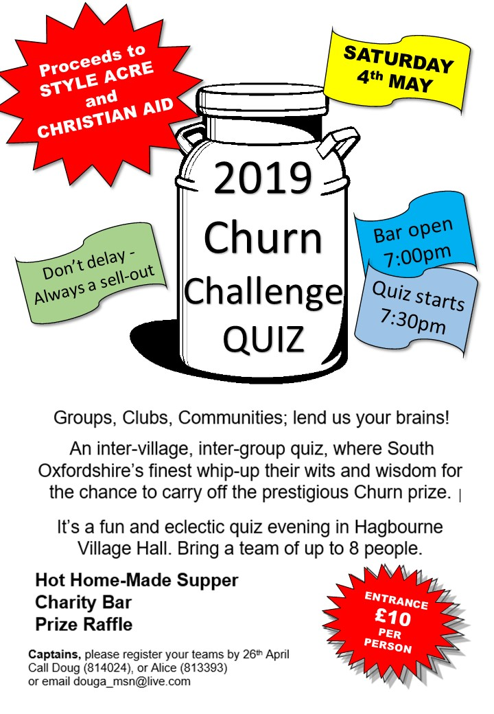 Poster for 2019 Churn Quiz