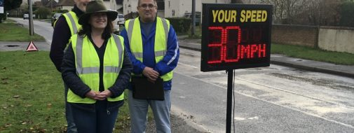 Photo of speed watch volunteers