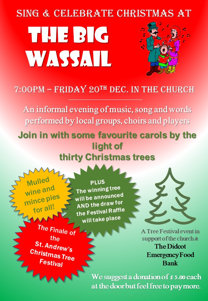 Poster advertising Wassail event