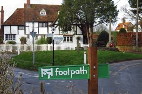 Photo of Lower Cross and sign