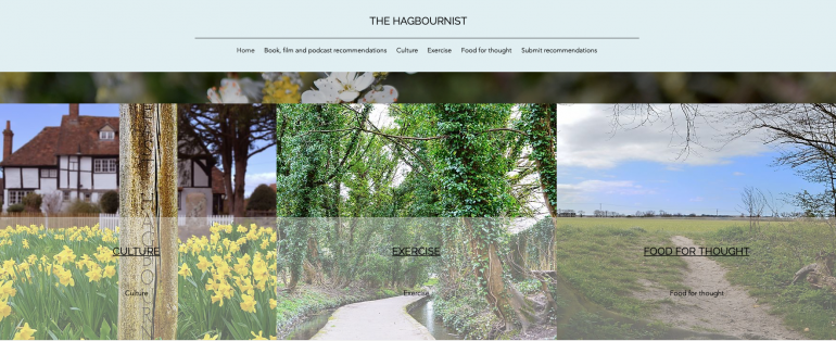 Screenshot of Hagbournist website
