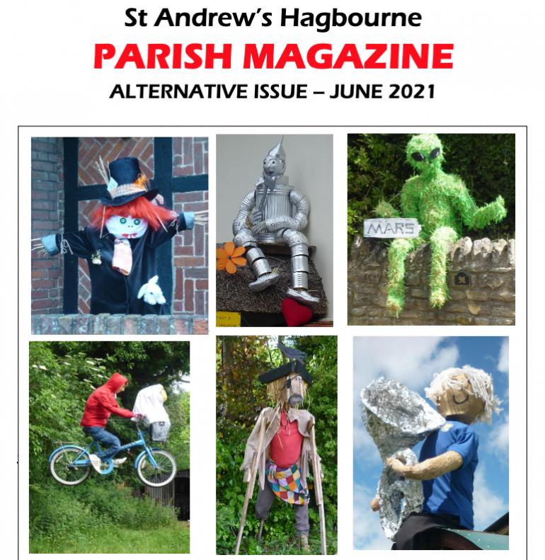 Parish Mag cover of scarecrows