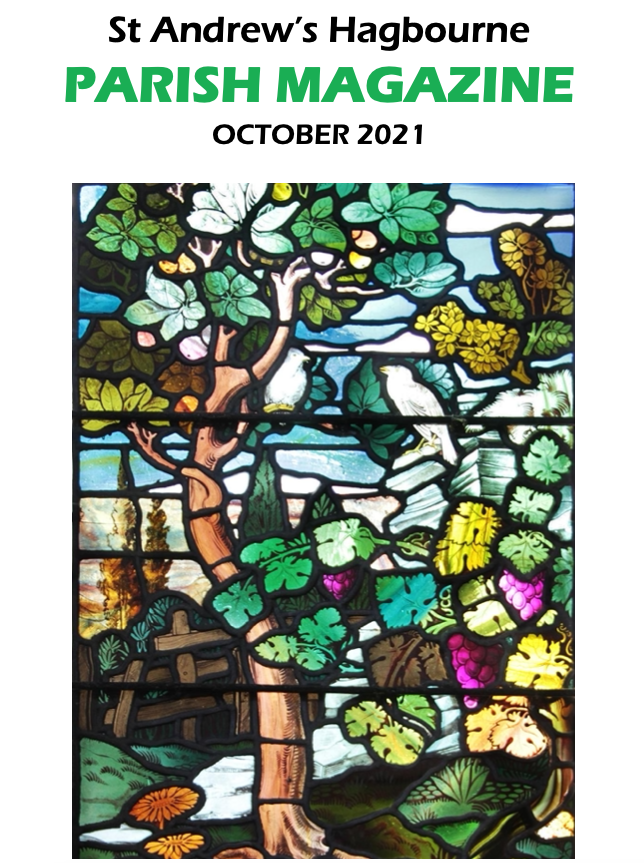 Image on Parish Mag of stained glass window